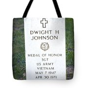 D. H. Johnson - Medal Of Honor Tote Bag