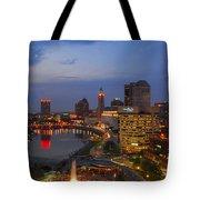 D101l Columbus Ohio Night Skyline Photo Tote Bag