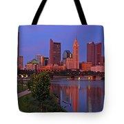 D2l38 Columbus Ohio Skyline Photo Tote Bag