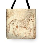 da Vinci Horse in Piaffe Tote Bag