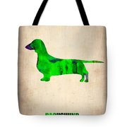 Dachshund Poster 1 Tote Bag by Naxart Studio