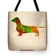 Dachshund Poster 2 Tote Bag by Naxart Studio