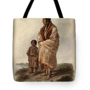 Dacota Woman And Assiniboin Girl Tote Bag