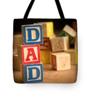 Dad - Alphabet Blocks Fathers Day Tote Bag