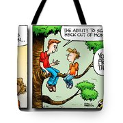 Daddy's Home Dad And Son Bond Scaring Mom Tote Bag
