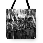 American Soldiers At Muster 1835 Tote Bag