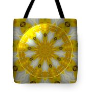 Daffodil And Easter Lily Kaleidoscope Under Glass Tote Bag