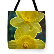 Daffodil Duet By Jrr Tote Bag