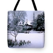 Daffodil Snow Tote Bag by Skip Willits