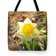 Daffodil Under Water Tote Bag