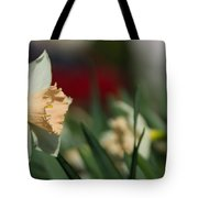 Daffodil With A Splash Of Red Tote Bag