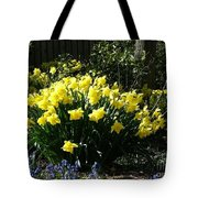 Daffodils And Bluebells Tote Bag