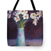 Daffodils And Cherries Tote Bag