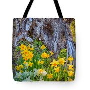 Daffodils And Sculpture Tote Bag