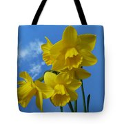 Daffodils In The Sky Tote Bag