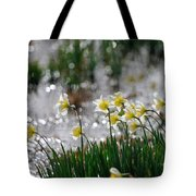 Daffodils On The Shore Tote Bag