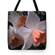 Daffodils With Coral Center Tote Bag