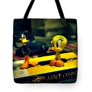 Daffy Tweety And Johnny Tote Bag