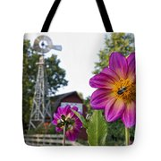 Dahlia Bee And Windmill Tote Bag