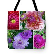 Dahlia Best Collage Tote Bag