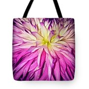 Dahlia Bursting With Color Tote Bag