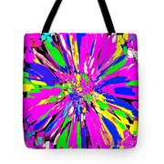 Dahlia Flower Abstract #1 Tote Bag