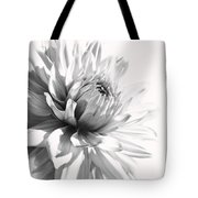 Dahlia Flower In Monochrome Tote Bag