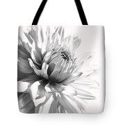 Dahlia Flower In Monochrome Tote Bag