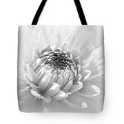 Dahlia Flower Soft Monochrome Tote Bag