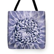 Dahlia Flower Star Burst Purple Tote Bag