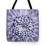 Dahlia Flower Star Burst Purple Tote Bag
