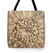 Dahlia Flower Star Burst Sepia Tote Bag
