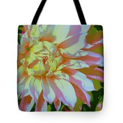Dahlia In Pink And White Tote Bag