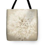 Dahlia In Sepia Tote Bag