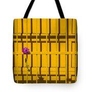 Dahlia In Yellow Gate Tote Bag