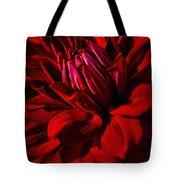 Dahlia Red Tote Bag