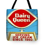 Dairy Queen Sign Tote Bag