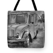 Dairy Truck - Old Rosenbergers Dairies - Black And White Tote Bag