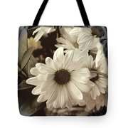 Daisies And Charcoal Tote Bag