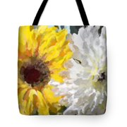 Daisies And Sunflowers - Impressionistic Tote Bag