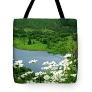 White Daisies At Queens View Tote Bag