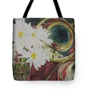 Daisies Bold As Brass Tote Bag