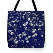 Daisies In Blue Fire Tote Bag