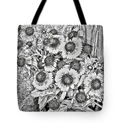 Daisies In Relief Tote Bag