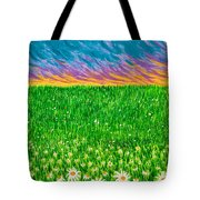 Daisies In The Park Tote Bag