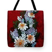 Daisies Lilacs And Forget Me Nots Tote Bag