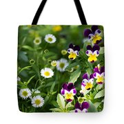Daisy And Pansy Mix Tote Bag