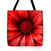 Daisy Daisy Neon Red Tote Bag