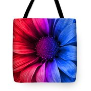 Daisy Daisy Red To Blue Tote Bag