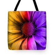 Daisy Daisy Yellow To Purple Tote Bag